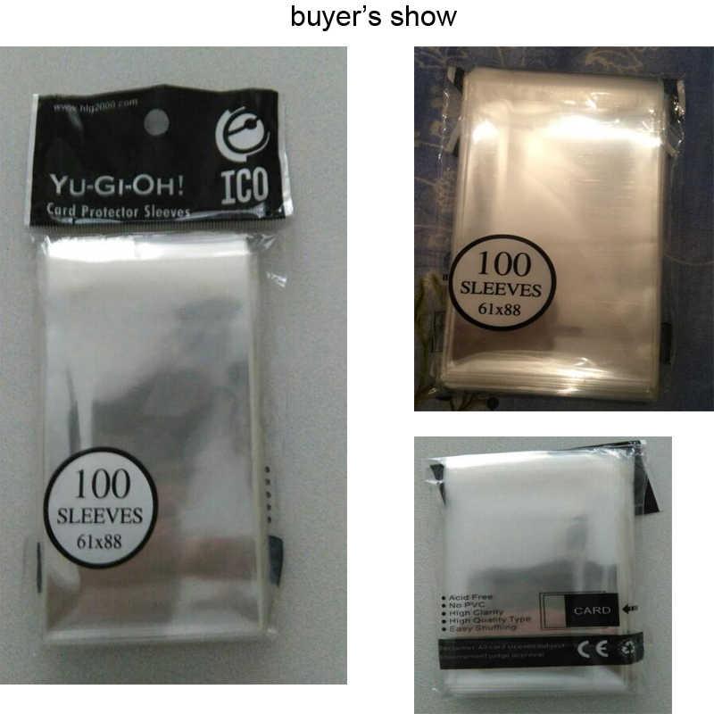61*87mm selo cartão mangas 100 unidades/pacote cartões protetor barrie para yu-gi-oh yu gi oh mangas de jogo de tabuleiro