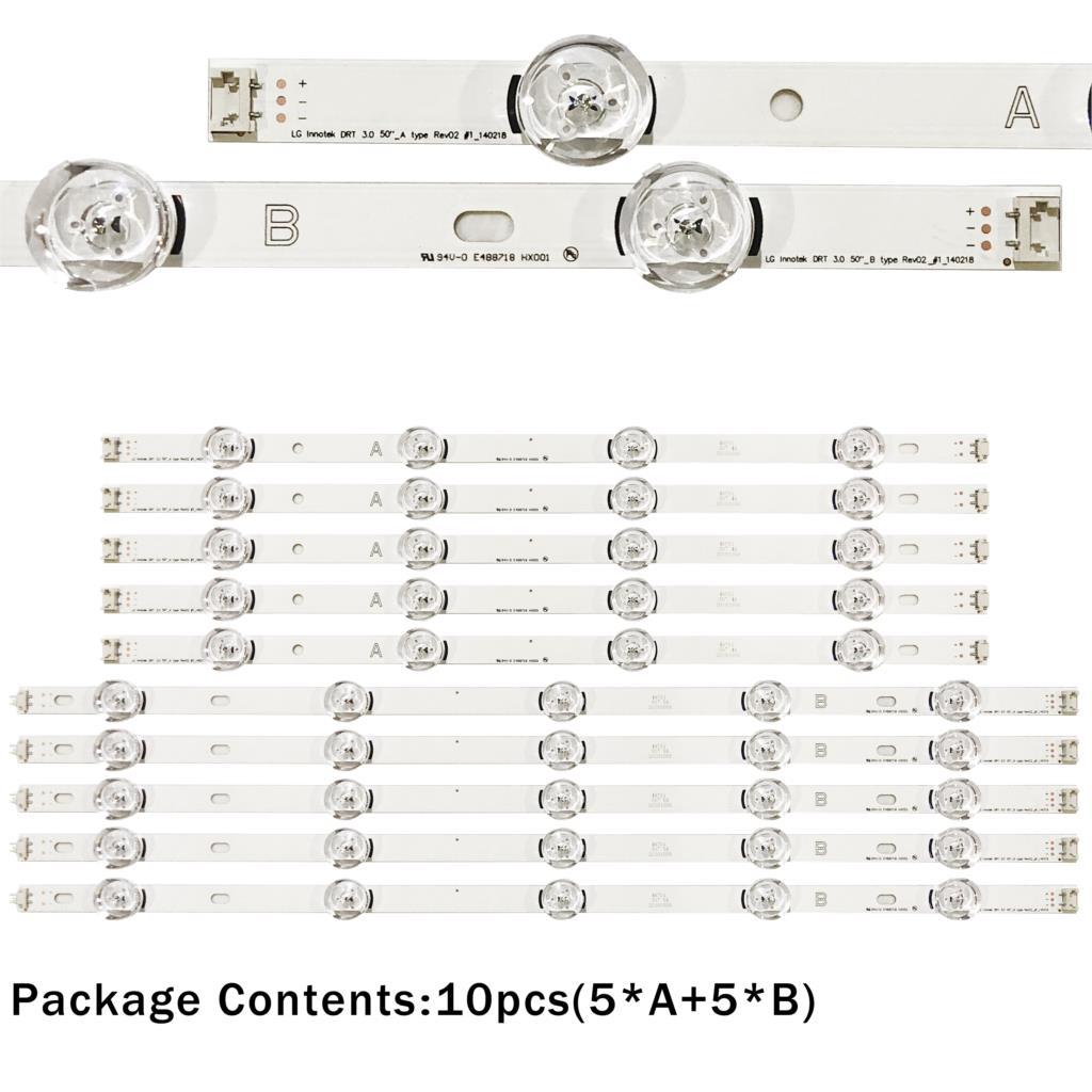 1030mm Led Backlight Lamp Strip 9leds For Lg Innotek Drt 3.0 50tv A/b 140107 6916l-1735a 6916l-1736a 6916l-1978a 6916l-1982a To Help Digest Greasy Food Tablet Accessories