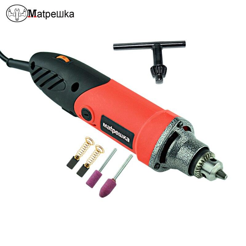 Elektrische Bohrer Mini Stecher Mit 6 Variable Geschwindigkeit Dremel Metallbearbeitung Bohren Maschine Polieren 110 V/220 V Mit Flexible welle
