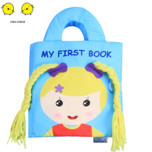 Girls Braided Babies Books Intelligent Early  Teach Toys 3D Educational Toddler With Sound Paper