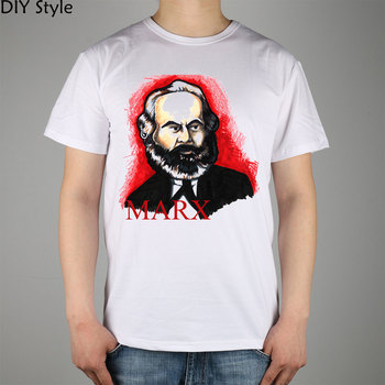 On Karl Marx's The German Ideology, Part I, an early, unpublished work from T-shirt Top Lycra Cotton Men T shirt New DIY Style image