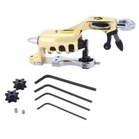 Titanyum Alaşım Rotary Motor Dövme Makineli Tüfek Profesyonel Dövme Gun Panter Wrap Rulo Alaşım Antik Bakır Shader Liner