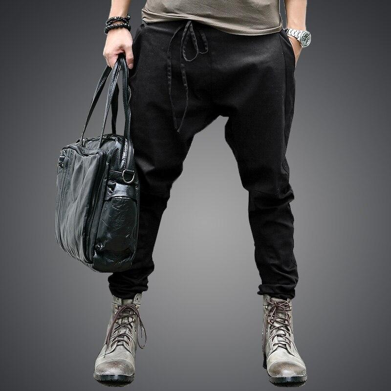men Harem Pants brand 2018 Casual Sagging pants men Trousers Drop Crotch Pant Men Joggers Feet pants hanging crotch