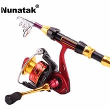 Buy Nunatak   Carbon Telescopic Fishing Rod 1.8 2.1 2.4 2.7 3.0 3.6 M + FENICE 2000 3000 4000 Spinning Reel Fishing 5.2: 1 11BB