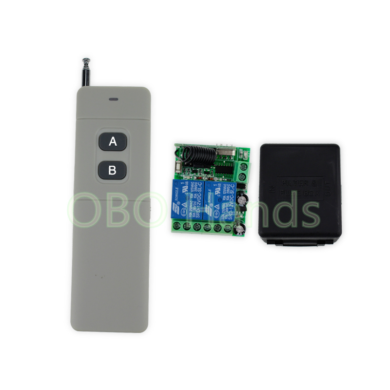 Long distance 315/433MHz DC12V wireless remote control switch with receiver+free shell for electric lock system for 2 doors-SB22 free shipping dc12v 433mhz metal