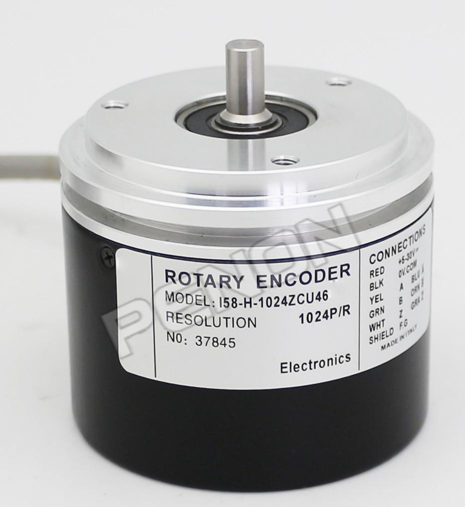 I58-H-1024ZCU46 I58S-H-1024ZCU410 I58-Y-1000ZCU46 Lika Alternative Incremental Rotary Encoder Sensor 6mm Shaft Universal CircuitI58-H-1024ZCU46 I58S-H-1024ZCU410 I58-Y-1000ZCU46 Lika Alternative Incremental Rotary Encoder Sensor 6mm Shaft Universal Circuit