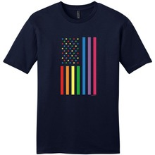 Create Your Own Shirt Graphic Men Crew Neck Short Sleeve American Flag Gay Pride Banner Tees