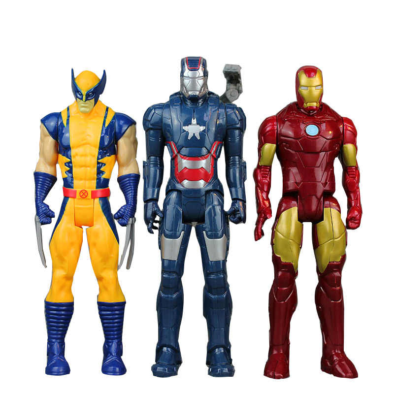30 см Marvel Мстители Бесконечность войны Человек-паук Железный человек Американский капитан Тор фигурка черная овда игрушка мальчик детская коллекция