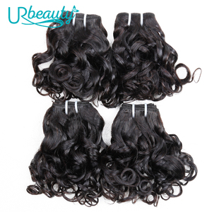 Image 5 - 25 กรัม/ชิ้นบราซิลหยักชุด 100% มนุษย์ผม 8 Bundles Wavy Hair Hair ธรรมชาติสี UR ความงาม Remy ผม