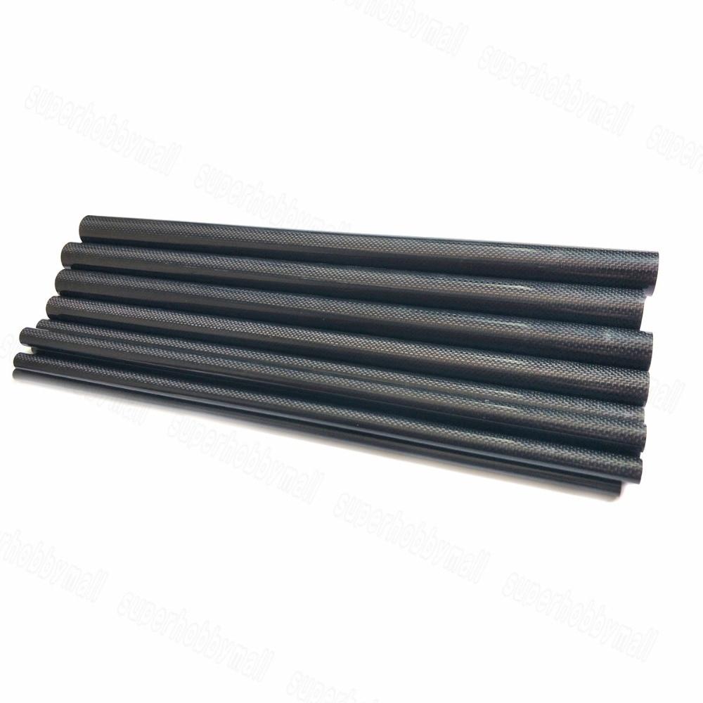 2pcs 3K Plain Weave პრიალა ზედაპირის ნახშირბადის ბოჭკოვანი მილის სიგრძე 500 მმ 8 მმ 10 მმ 12 მმ 14 მმ 18 მმ 20 მმ 22 მმ 24 მმ 26mm 28mm