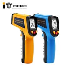 DEKO WD01 Бесконтактный лазерный ЖК-дисплей ИК инфракрасный термометр Цифровой температурный пистолет ручной регулируемый излучательный пирометр