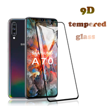 For Samsung Galaxy A70 Screen Protector, 3D Curved Full Cover Tempered Glass Protector for A30 glass