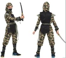 Boy Girl Halloween Costumeschildrens Costume Camo Ninja Cosplay Full Samurai Act