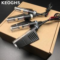 Keoghs High Quality Motorcycle Turn Signals Aluminum Shell 12v Led Yellow Light Universal For Honda Yamaha