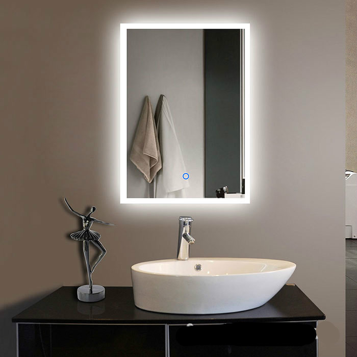 цена на New Modern Creative Waterproof 60*80cm Led Light Mirror For Bathroom Hotel With Touch Switch Bluetooth Multi Function 1187