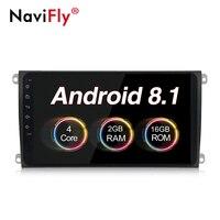 NaviFly Android 8,1 четырехъядерный 9 дюймов, автомобильный, мультимедийный плеер радио аудио для Porsche Cayenne 2003 2010 автомобильный gps навигация без DVD