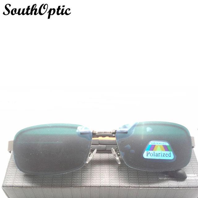 2015 clipes populares na metade aro da armação Clip On óculos polarizados condução de pesca ao ar livre óculos de sol clipes Flip Up óculos 672