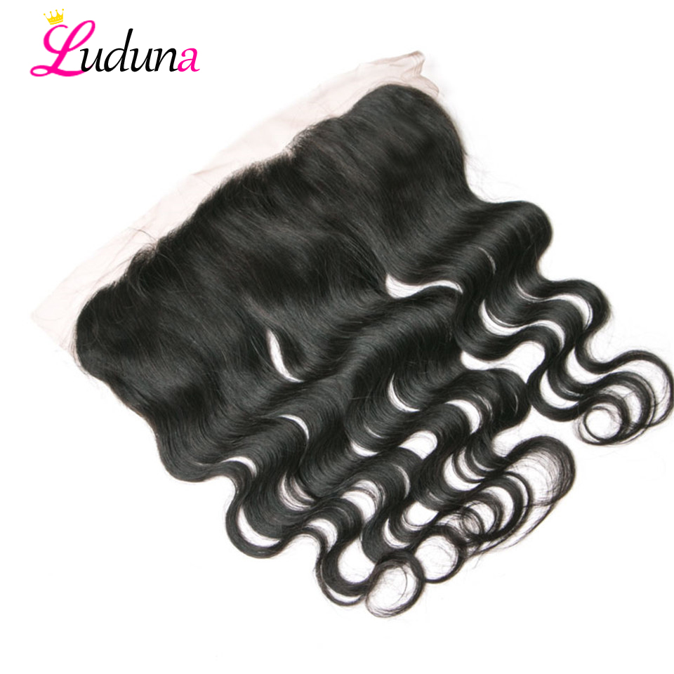 Luduna Lace Frontal Body Wave Lace Frontal Closure Human Hair Frontal Ear To Ear Lace Frontal Closure Brazilian Remy Frontal