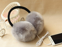 New Plush Female Winter Earmuffs Thermal Earmuff Fur Headphones Ear Muff Incidental Music Earphones Ear Warmer