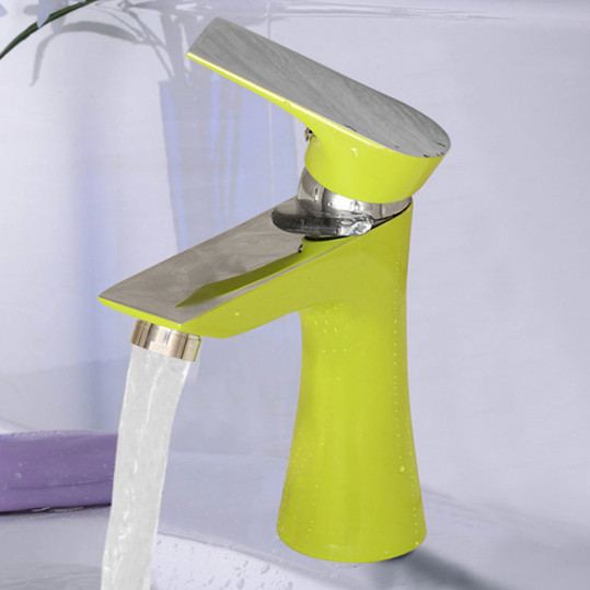 High quaility Green Baked Painting Basin Mixer Kitchen Mixer Tap for Dual purpose Hot and Cold Water Faucet On Discount