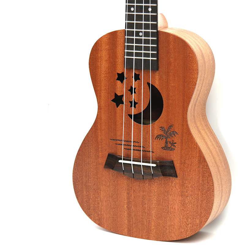 Afanti Music 21 inch small Guitar / Sapele / 21 inch Ukulele (DGA-111) 14 inch double tone afanti music snare drum sna 1234
