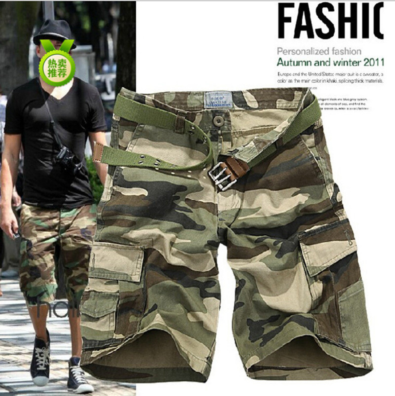 loose cargo mens jogger big yards camouflage shorts summer board men military short pants overalls - Abigale International Trade Co., Ltd. store