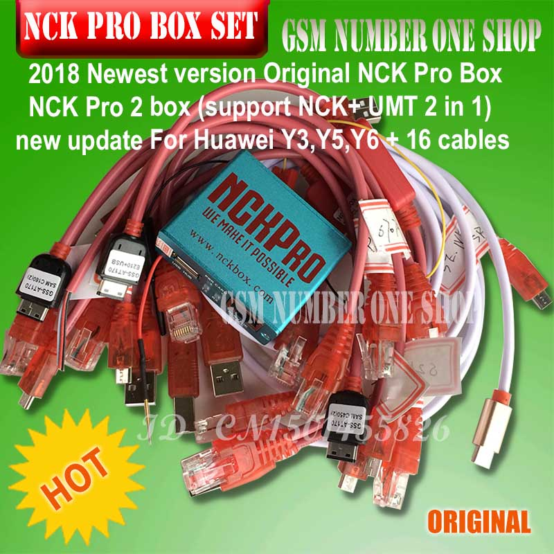 2019 Newest version Original NCK Pro Box NCK Pro 2 box (support NCK+ UMT 2 in 1)new update For Huawei Y3,Y5,Y6 + 16 cables2019 Newest version Original NCK Pro Box NCK Pro 2 box (support NCK+ UMT 2 in 1)new update For Huawei Y3,Y5,Y6 + 16 cables