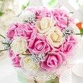 2017 Искусственный Роуз Свадебный Букет Свадебный Букет Невесты букет де mariage buques de noivas bruids boeket рамо бода