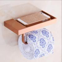 new arrival total brass Rose Gold paper holder bathroom tissue toilet paper toilet paper roll holder bathroom accessories