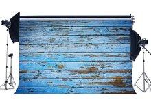Hout Achtergrond Geschild Blauw Geschilderd Stripes Houten Plank Shabby Textuur Rustieke Grunge Behang Fotografie Achtergrond
