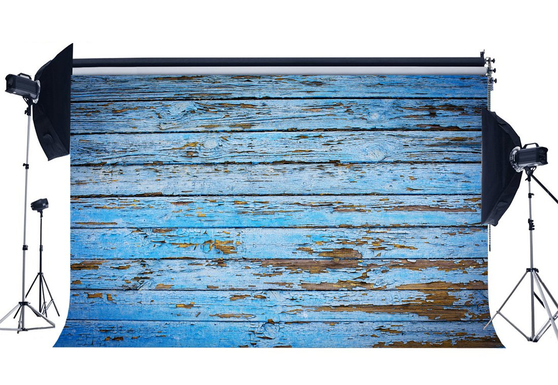 Wood Backdrop Peeled Blue Painted Stripes Wooden Plank Shabby Texture Rustic Grunge Wallpaper Photography Background-in Photo Studio Accessories from Consumer Electronics