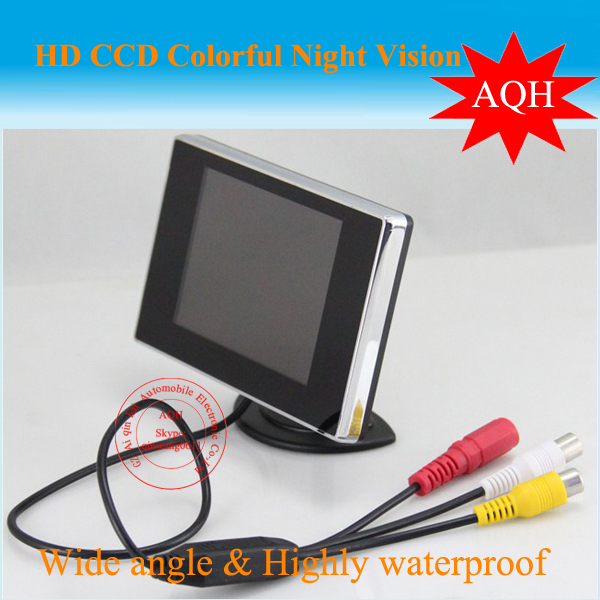 Promotion 4.3 inch vehicle monitor for car rearview camera (av-in RCA) 2 video input Free shipping