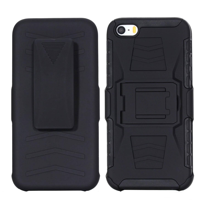 Étui robuste pour fundas iPhone 5s 5 SE 6s 6 Plus étui pour coque iPhone 7 8 7 8 Plus étui clip de fixation de ceinture
