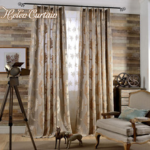 Helen Curtain European style luxury jacquard curtains for living room modern jacquard tulle curtains window treatments L-15