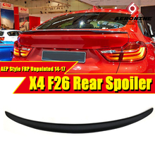 F26 Spoiler rear lip wing FRP Unpainted P Car styling Fits For BMW F26 X Series Auto rear trunk Spoiler wings stem Lip 2014-2017 montford car styling abs plastic unpainted primer color rear trunk boot wing roof spoiler for bmw f26 x4 spoiler 2015 2016 2017