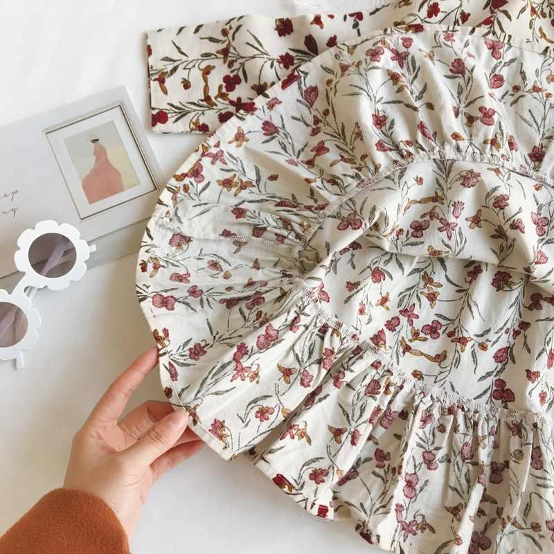 2019 Nieuwe Herfst Kinderen Jurken Voor Meisjes Bloem Dunne Corduroy Jurk Baby Meisje Koreaanse Mode Prinses Jurk