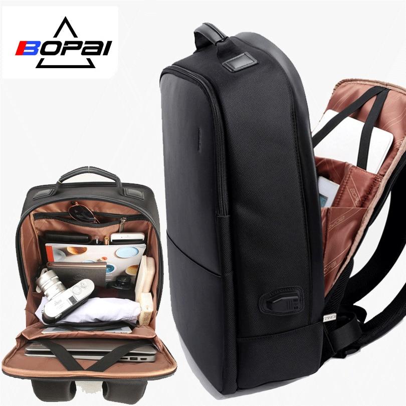 Bopai 브랜드 남자 노트북 배낭 usb 외부 충전 컴퓨터 어깨 도난 방지 배낭 15 인치 방수 노트북 배낭-에서백팩부터 수화물 & 가방 의  그룹 1