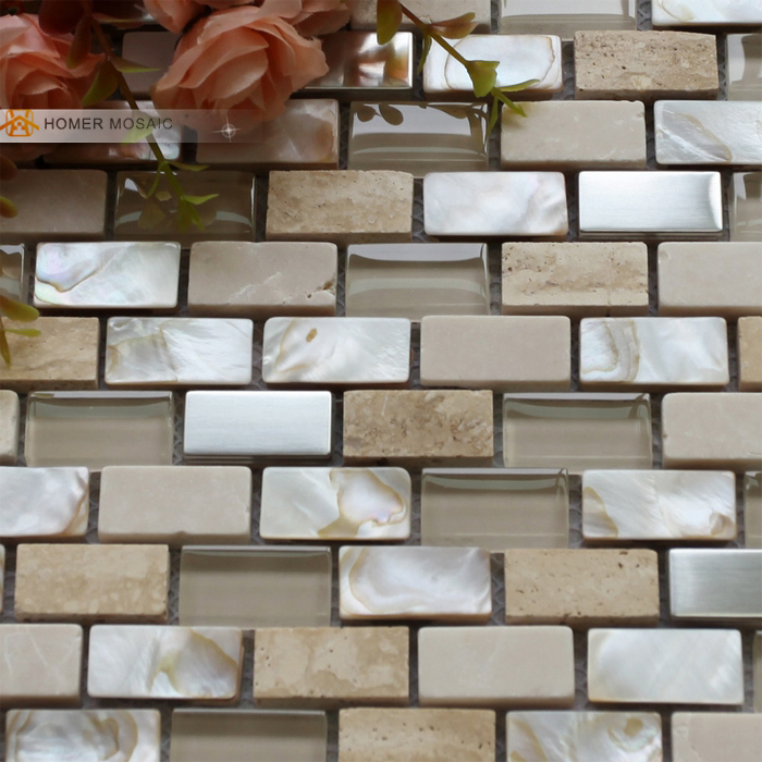 Free Shipping Cream Color Stone Gl Mixed Mother Of Pearl