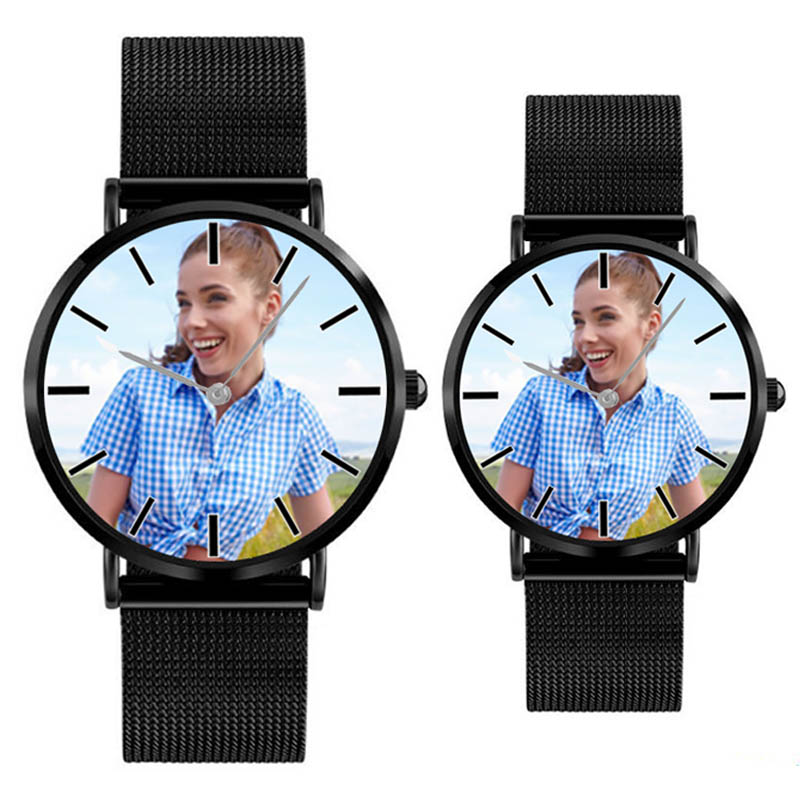 A4402 Personalized Custom Photo Watch Wrist Watch for Men And Women Stainless Steel Case Quartz Watches Waterproof