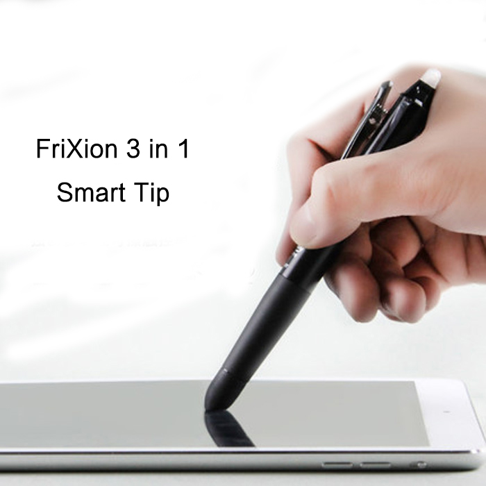 PILOT FriXion Ball 3 Gel Pen with Smart Tip 0.5mm (Black/Blue/Red) Erasable Writing Draw on Tablet/Phone LKFBS--2SEF pilot dr grip pure white retractable ball point pen