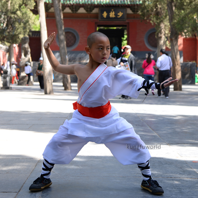 White Color One-sleeve Shaolin Monk Uniform Chinese Kung Fu Tai Chi Martial Arts Wing Chun Karate Suit