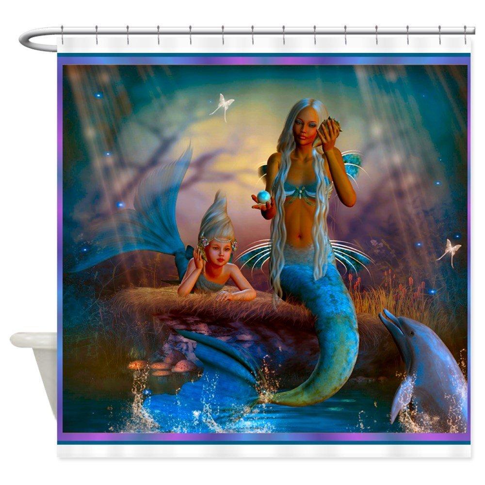 Best Seller Merrow Mermaid - Decorative Fabric Shower Curtain (69x70)