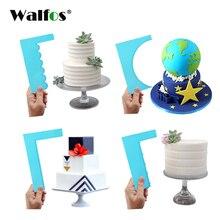 WALFOS скребок для торта разглаживатель мастики мусс крем шпатель край Гладкий кухонный торт форма для печенья инструменты для украшения выпечки