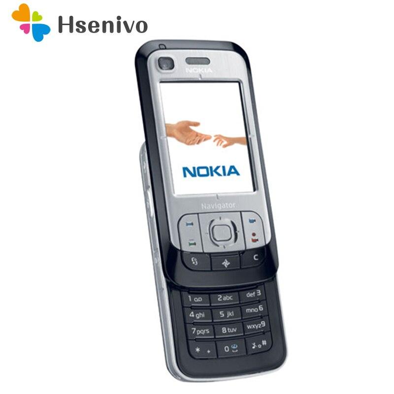 6110N Original Unlocked NOKIA 6110 Navigator Mobile Phone Russian Keyboard Arabic Keyboard Refurbished