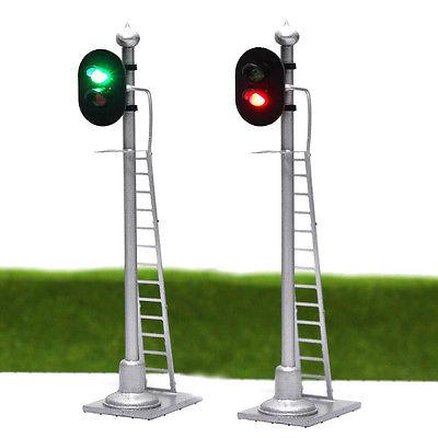 HO-RAILROAD ACCESSORIES-TRIPLE LAMP STREET LIGHTING SET-5 PCS W//DIAGRAM-16V