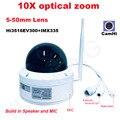 CamHi 5MP 4MP 10X Speed dome com zoom óptico da câmera PTZ IP Sem Fio câmera de segurança ip onvif MIC speaker P2P ao ar livre 5-50mm lente