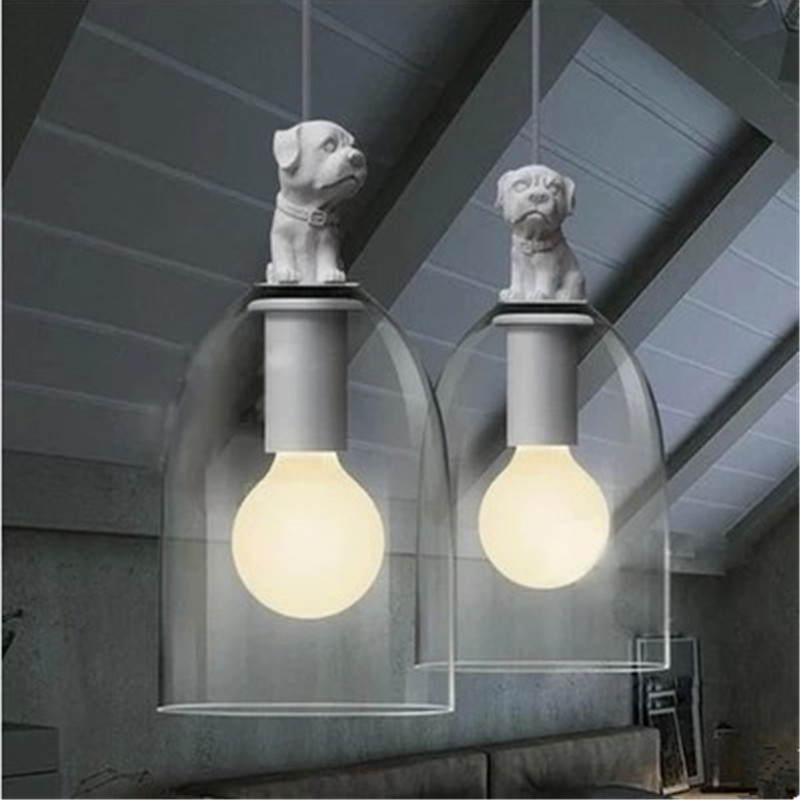 Creative Glass Retro Fashion Personality Restaurant American Country European Children's Room Chandelier Lamp Puppy Dog PLL-262 contemporary and contracted creative personality retro art glass chandelier cafe restaurant study lamps act the role of milan