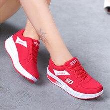 Прогулочная обувь, Нескользящие женские ботинки из PU искусственной кожи Для женщин спортивная обувь удобная обувь на шнуровке круглый носок женские Молодежные кроссовки 0911