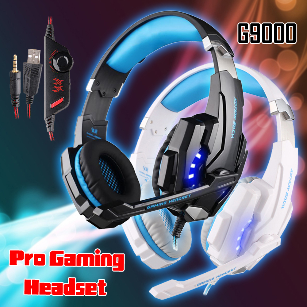 YCDC KOTION EACH G9000 3.5mm Pro Gaming Headset Headphone For PC Laptop 3D Surround Soun ...