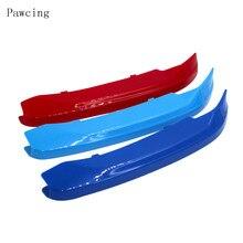 3 цвета ноздри бар крышка полоса клип наклейка для BMW 3 серии E90 E91 E84 E70 E72 F10 15 F25 F26 F30 F34 F48